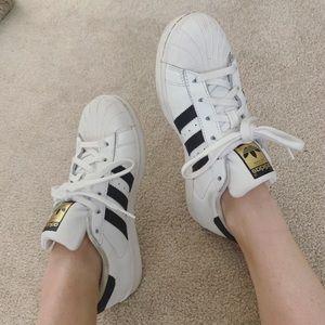 Lightly used adidas superstars